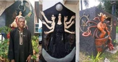 Church of Satan destroyed, author captured in Abia [Full Photo's]