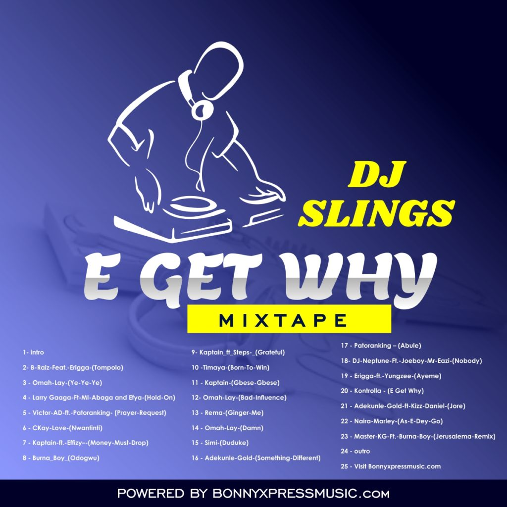 Dj Slings ''E GET WHY'' Mixtape