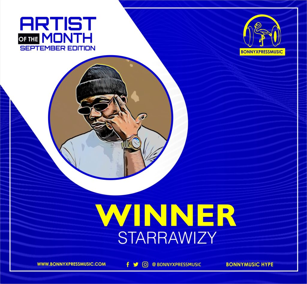 winner of the artist of the month september edition
